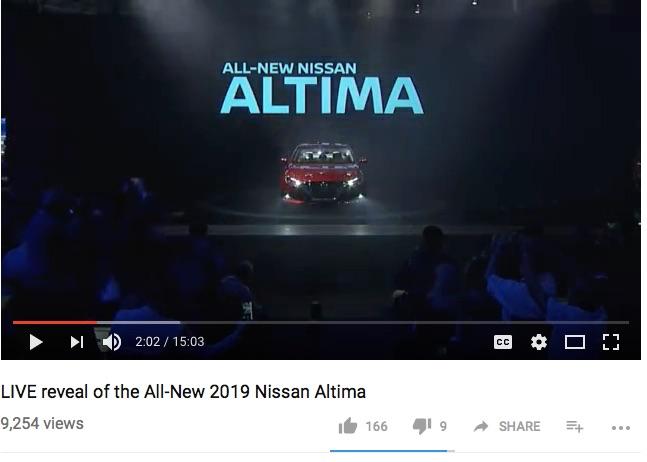 nissan altima live reval on facebook