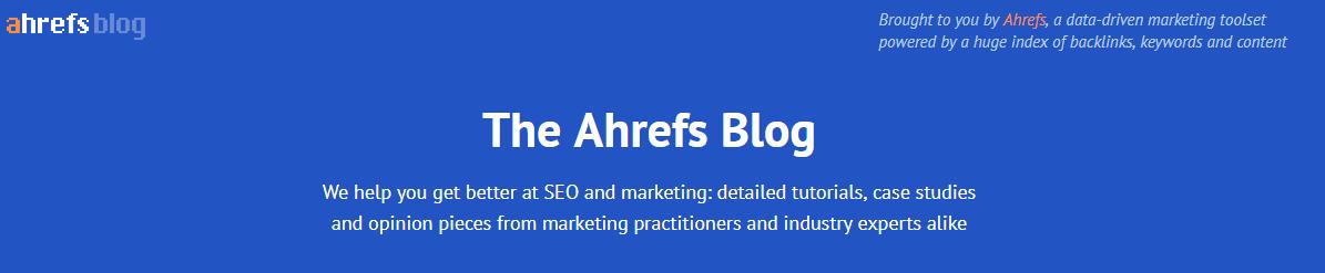 ahrefs blog header in 2018