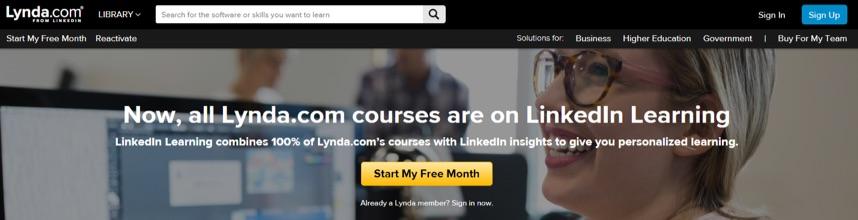 lynda homepage 2018