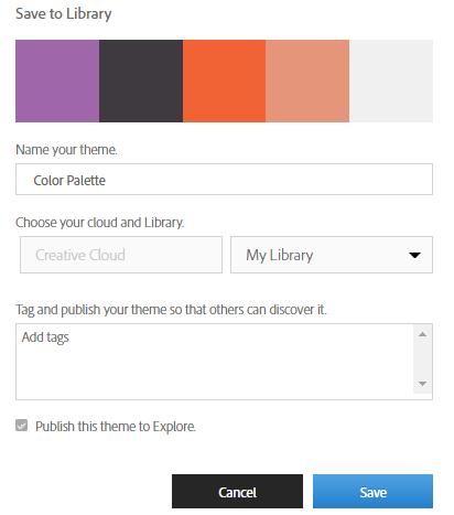 name your theme adobe color cc