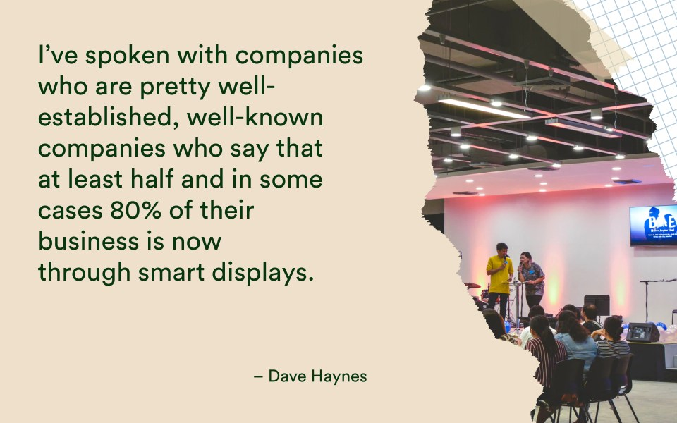 "Dave Haynes Quote 5 ""I Think It's a Serious Player Already."": Dave Haynes From Sixteen:Nine on SoC Displays. - 1"