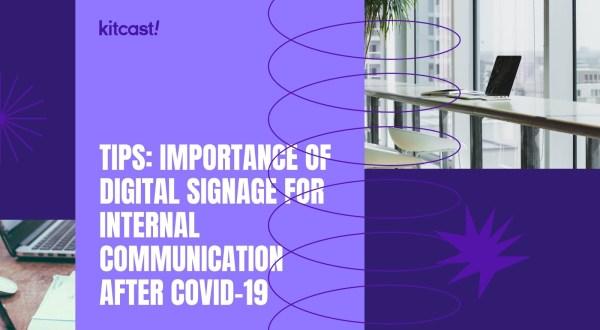 internal communications digital signage