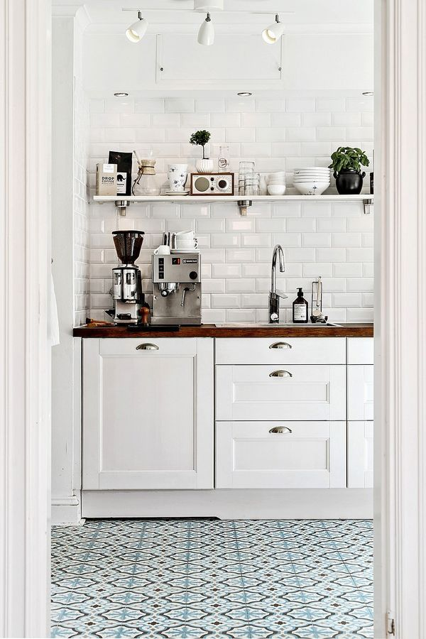 tiled kitchen floors wire storage tiles how to use them in your home patterned tile