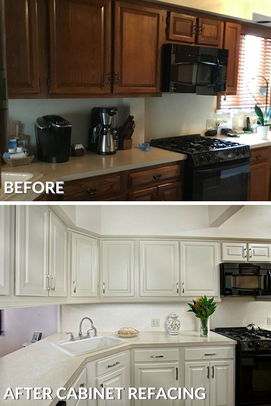 kitchen cabinet cost narrow cart how much does refacing cabinets refaced before and after photo