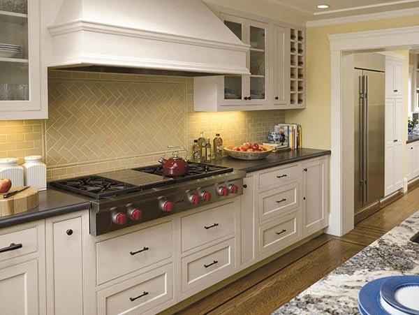 herringbone kitchen pattern