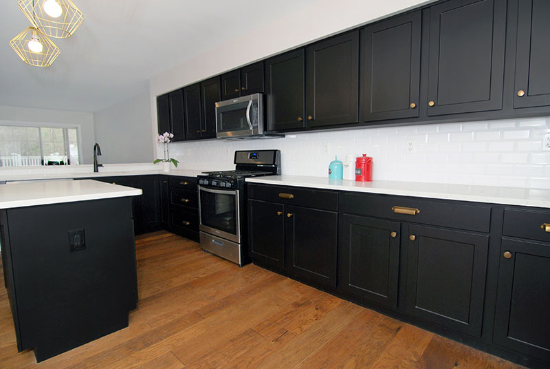 kitchen black cabinets pictures of would a small look good with shaker
