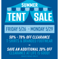 Memorial Day Weekend Tent Sale