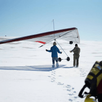 Winter Hang Gliding Images