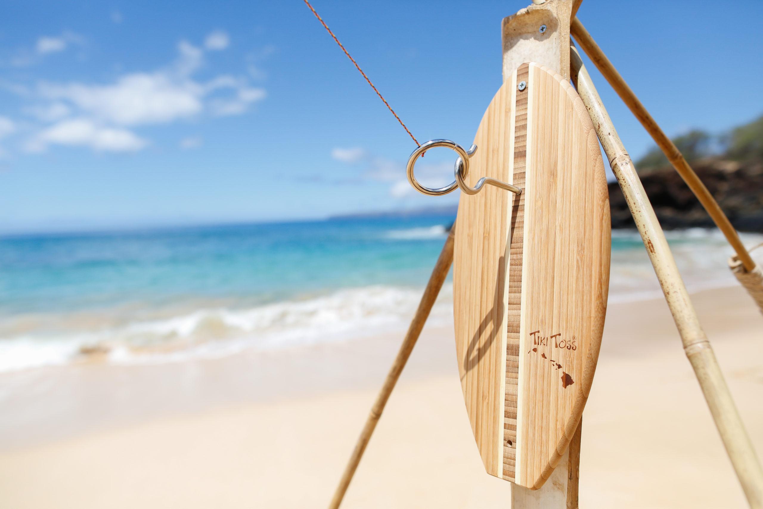Tiki toss game at beach