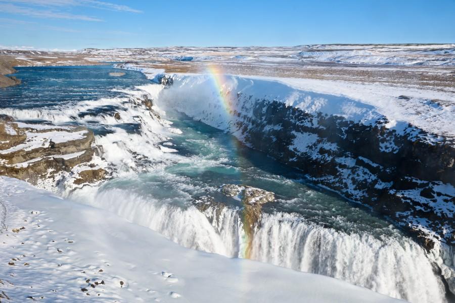 Iceland Gullfoss Waterfall Ashutterstock 612907064 1