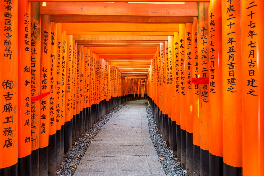 batch Japan Kyoto Fushimi Inari Shrine Ashutterstock 532487164