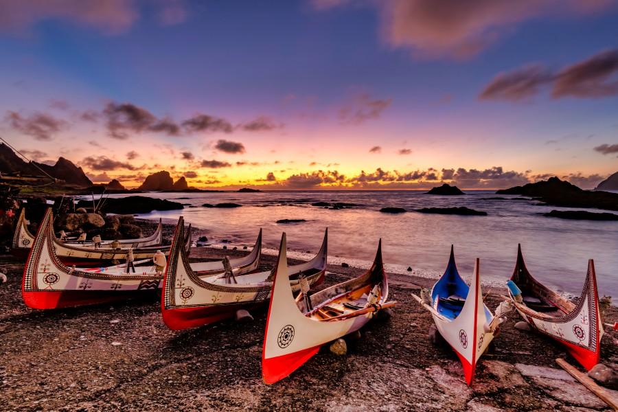 蘭嶼景點、拼板舟、東清灣日出