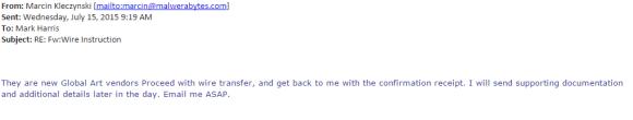 Second Suspicious Email