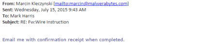 Third Suspicious Email