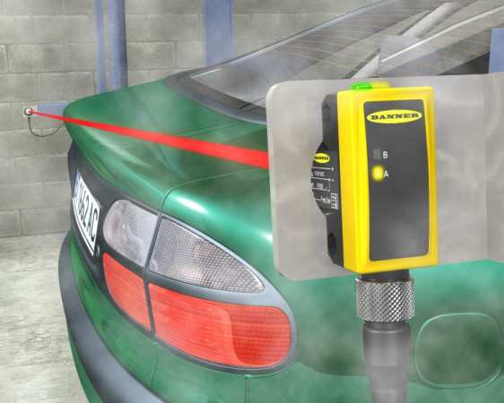QS30-Car-Wash Sensors Reliably Perform in the Harshest Environments