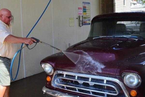 Customer Using Spray Gun