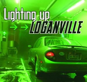 Green LED Car Wash Bay