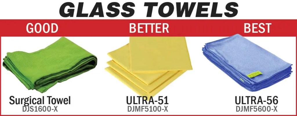 Glass towels - good, better, best
