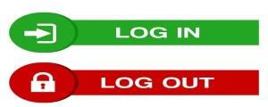 Login Logout Buttons