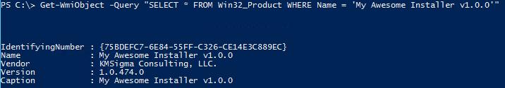 Get-WmiObject -Class Win32_Product