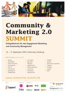 Community & Marketing 2.0 Summit 2009 _Programm