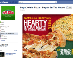 Facebook Kampagne Pizza
