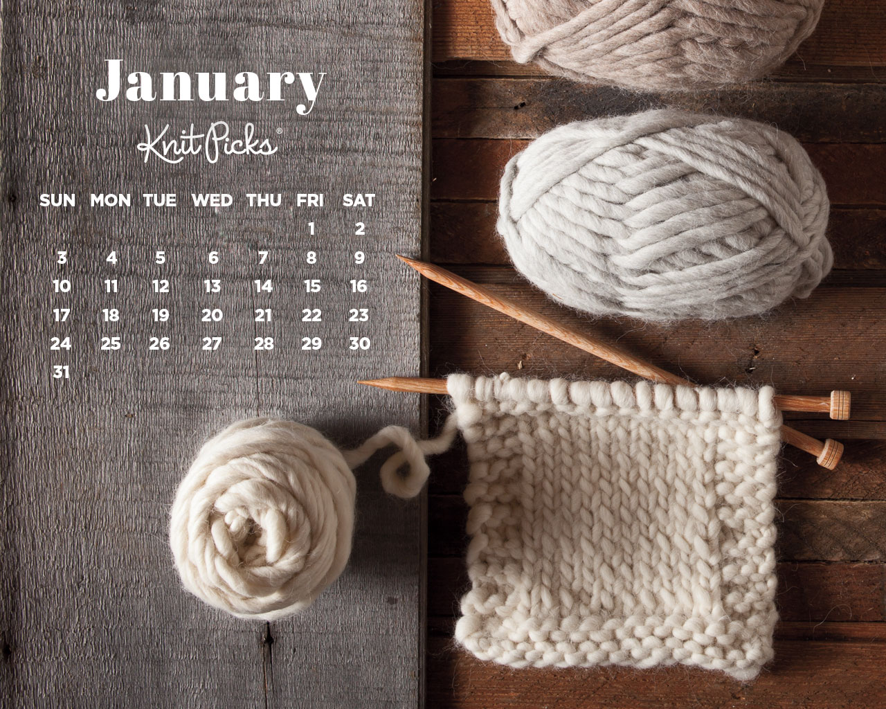 January 2016 Calendar KnitPicks Staff Knitting Blog