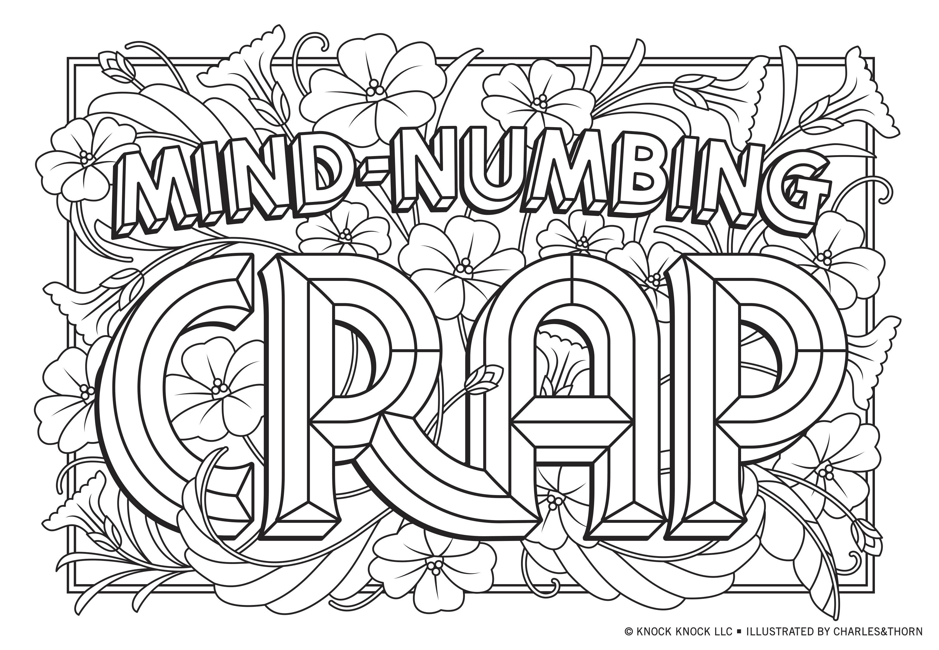 NSFW—But Safe for WFH—Printable Adults Coloring Pages