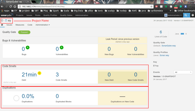 integrate your project to SonarQube
