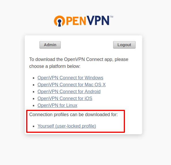 OpenVPN Connect Profile