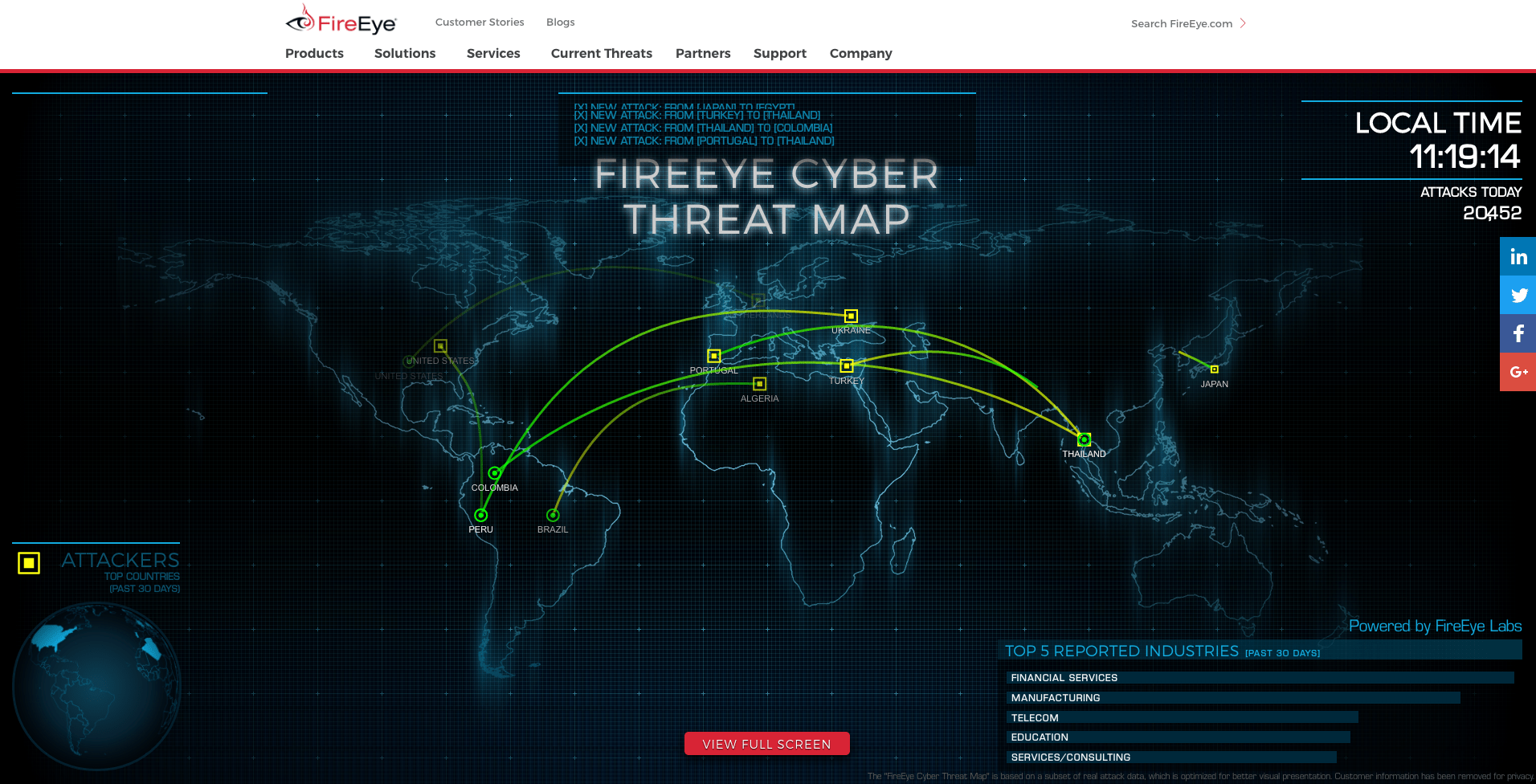 cyber attack maps accurate