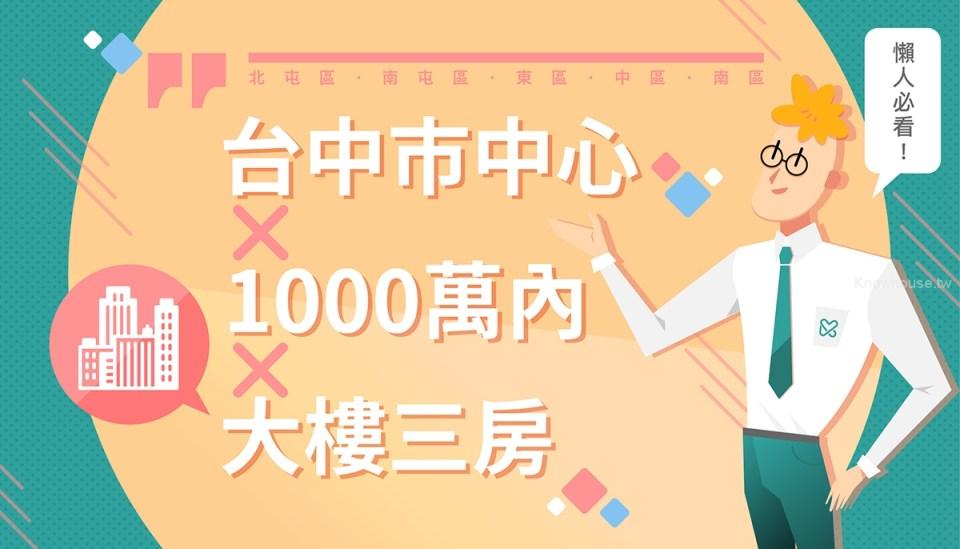 台中市中心1000萬以內三房新建案整理 (2019第三季) 1