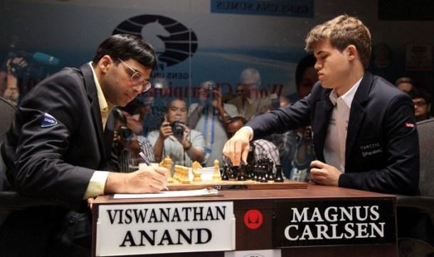 Viswanathan Anand against Magnus Carlsen