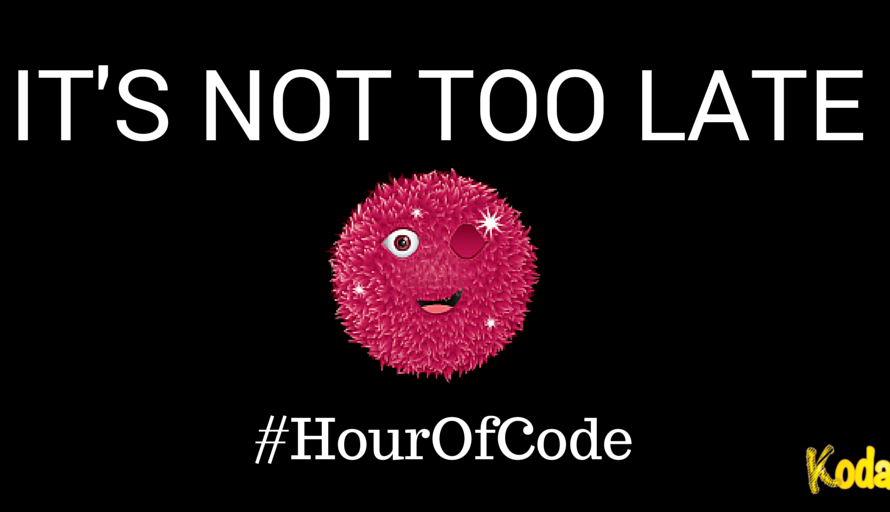 It's Not Too Late to Join the Hour Of Code!