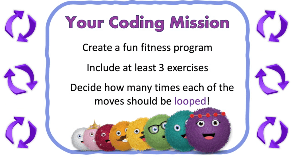 Your coding mission. use three loops to create a workout routine