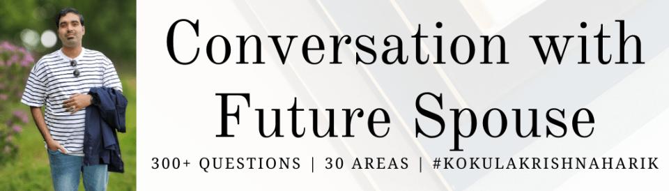 Conversation with Future Spouse by Kokula Krishna Hari Kunasekaran Kae Kae