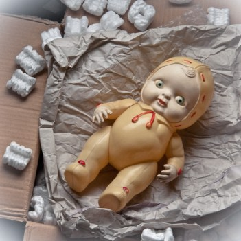 Box baby_16x16 vintage toy photography