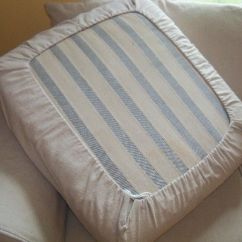 How To Make A Slipcover For Sofa Cheap And Loveseat Sets Easy Diy Drawstring Seat Cushion Cover Kovi
