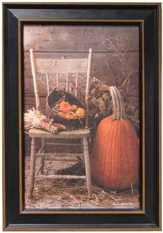 framed fall art