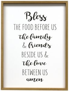 bless the food prayer print