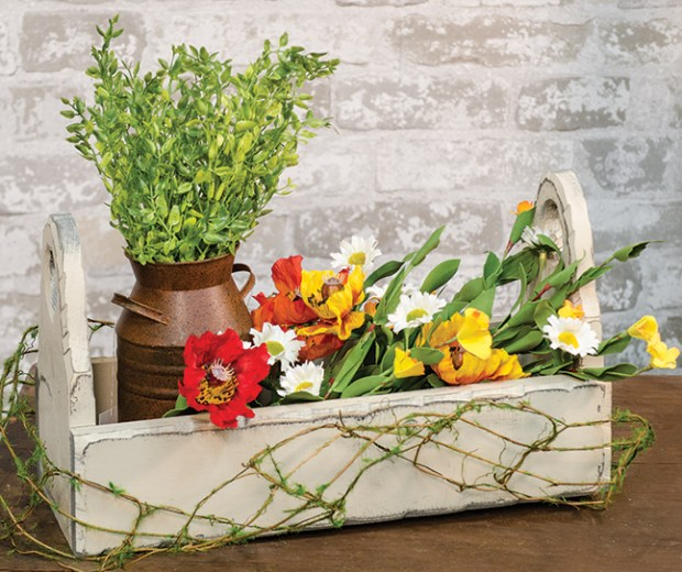 ivory flower box basket