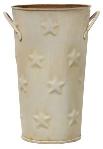 cream flower bucket vase