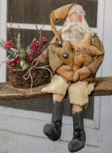 christmas vine basket