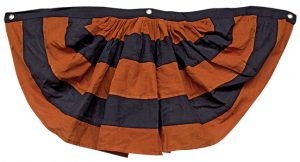 black and orange bunting