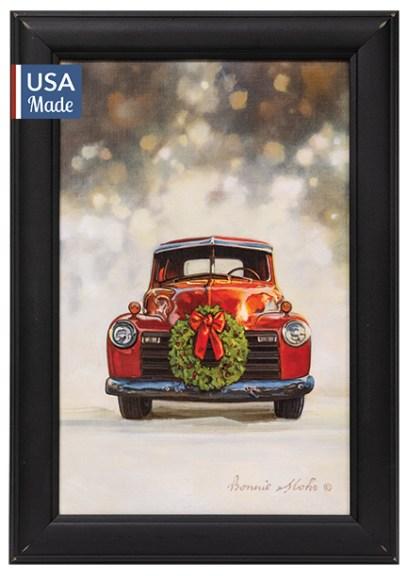 vintage red car print