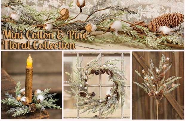 winter pine floral christmas collection