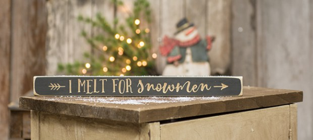 snowman engraved sign