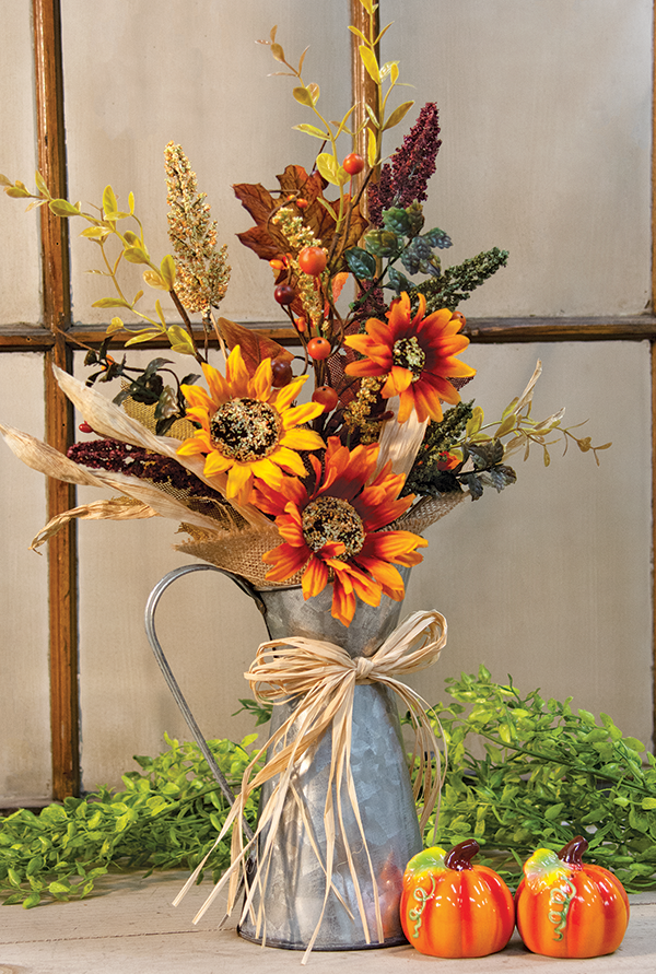 harvest floral pitcher