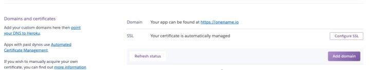Heroku Crypto Domain Hijacking
