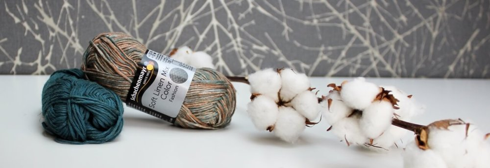 Wolle soft linen Mix in der farbe patina und billardgrün